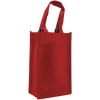 Red 2 Bottle Wine Tote Thumb