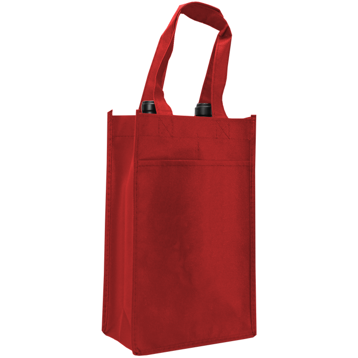 Red 2 Bottle Wine Tote
