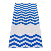 Royal Horizon Chevron Striped Beach Towel Thumb