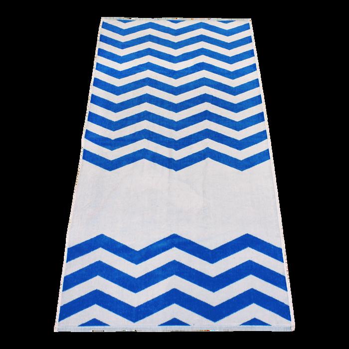 Royal Horizon Chevron Striped Beach Towel