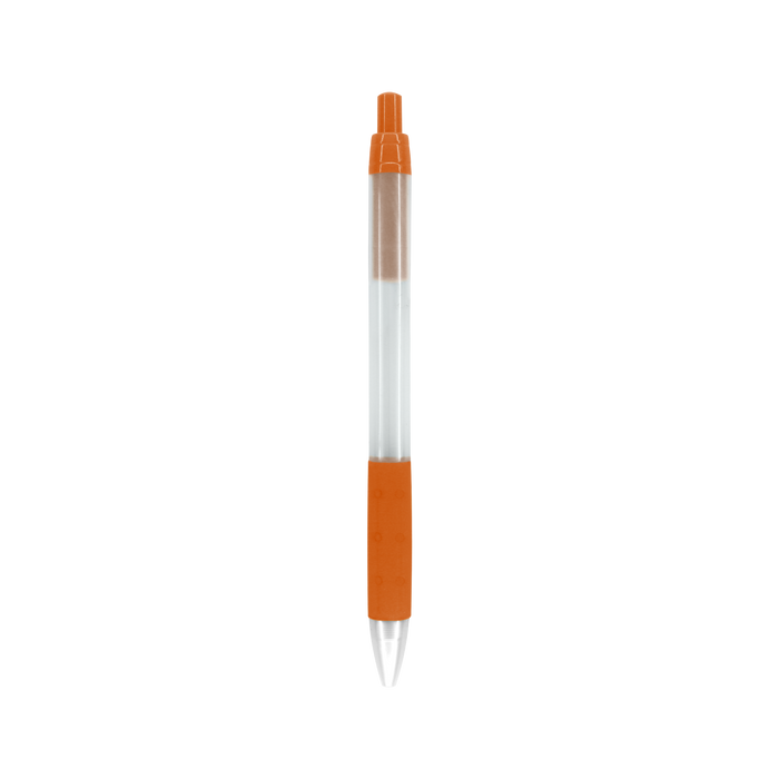 Orange with Black Ink Frosted Barrel Pen