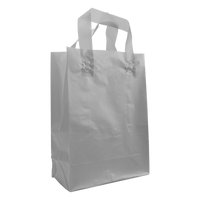 Silver Medium Frosted Plastic Shopper Thumb