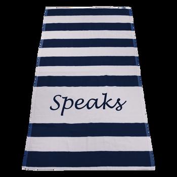 imprinted beach towels,  striped beach towels,