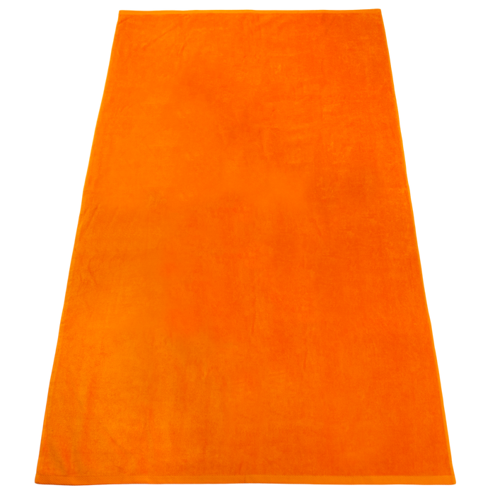 Orange Nautica Color Beach Towel