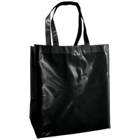 Black Laminated Big Storm Grocery Bag Thumb