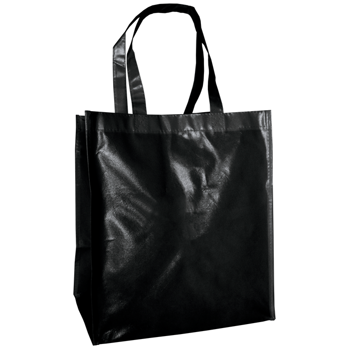 Black Laminated Big Storm Grocery Bag