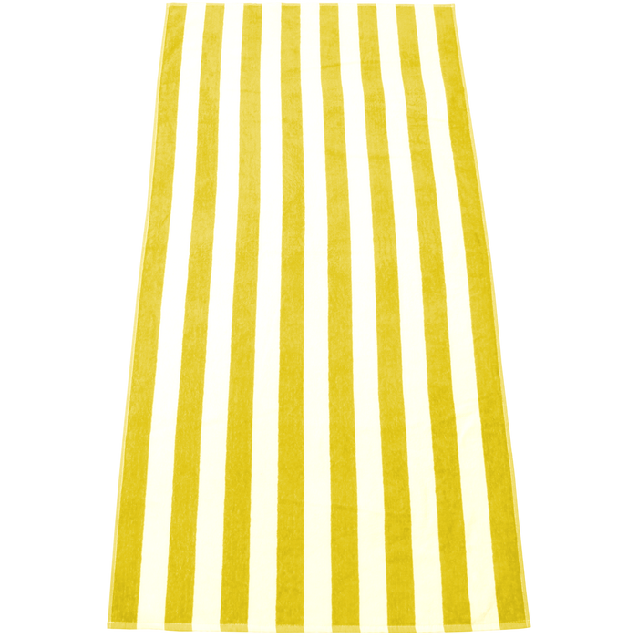 Yellow Latitude Plus Striped Beach Towel
