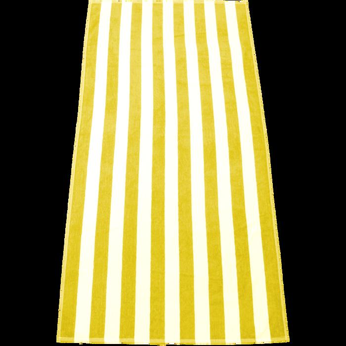 Yellow Latitude Plus Striped Beach Towel