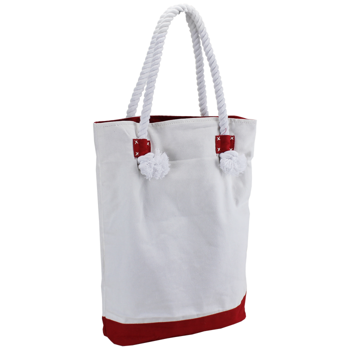 Red Catamaran Canvas Tote