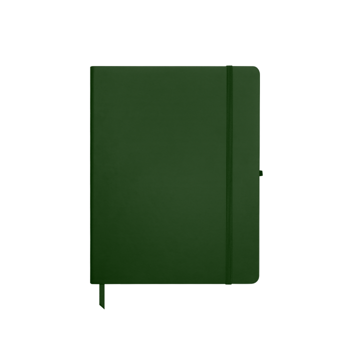 Hunter Green Medium Soft Faux Leather Journal