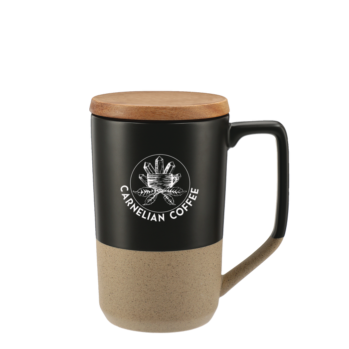 Ceramic Mug with Wood Lid
