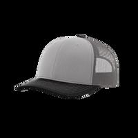 Grey/Charcoal/Black Richardson Trucker Snapback Hat Thumb