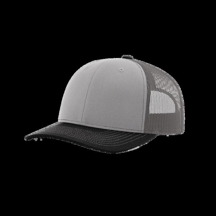 Grey/Charcoal/Black Richardson Trucker Snapback Hat