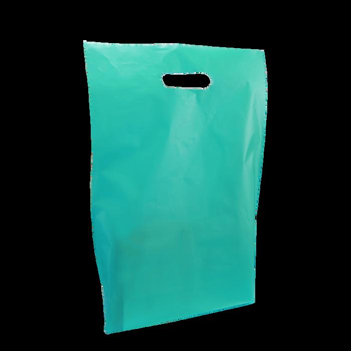 Teal Medium Frosted Die Cut Bag