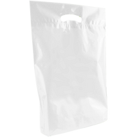 White Medium Eco-Friendly Die Cut Plastic Bag Thumb