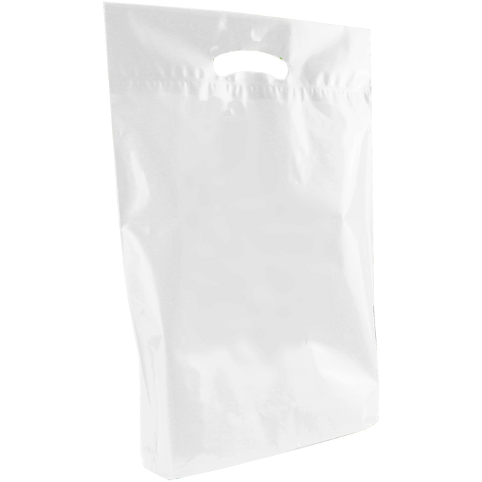 White Medium Eco-Friendly Die Cut Plastic Bag
