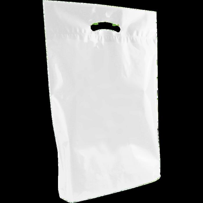 White Medium Eco-Friendly Die Cut Plastic Bag