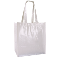 White Laminated Little Storm Grocery Bag Thumb