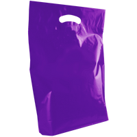 Purple Medium Die Cut Plastic Bag Thumb