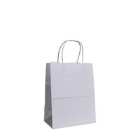 White Extra Small White Paper Shopper Bag Thumb