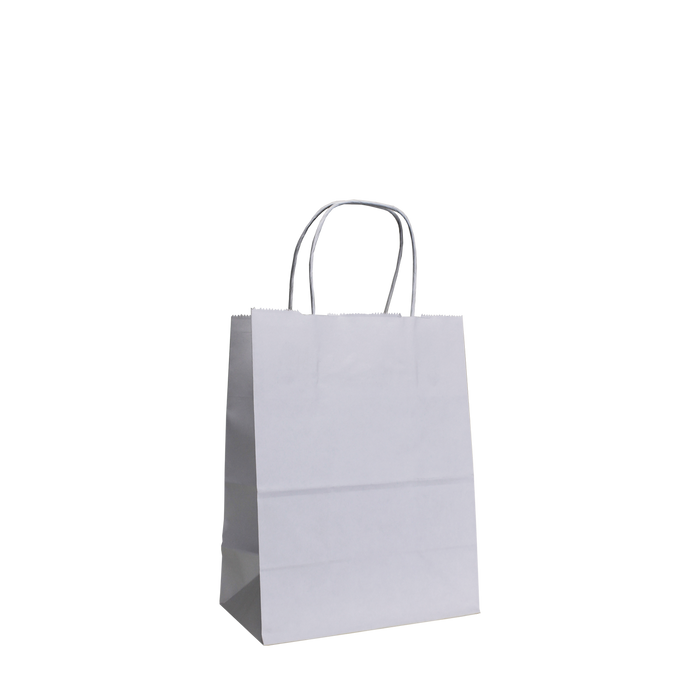 White Extra Small White Paper Shopper Bag