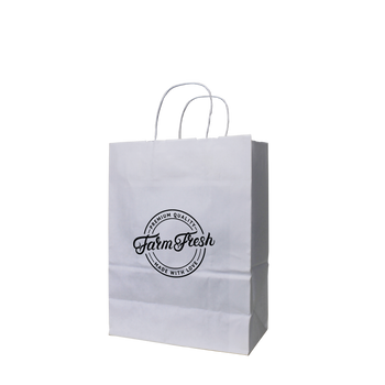 Small White Paper Shopper Bag