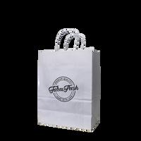 Small White Paper Shopper Bag Thumb