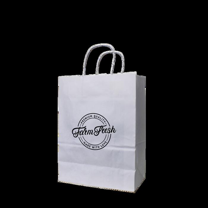 Small White Paper Shopper Bag