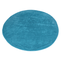 Turquoise Classic Color Round Beach Towel Thumb