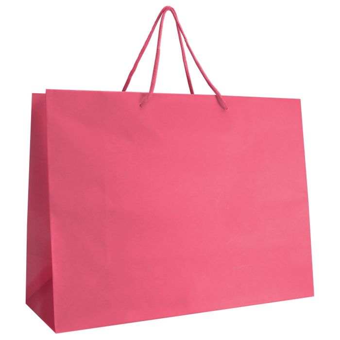 Pink Large Matte Shopper Bag