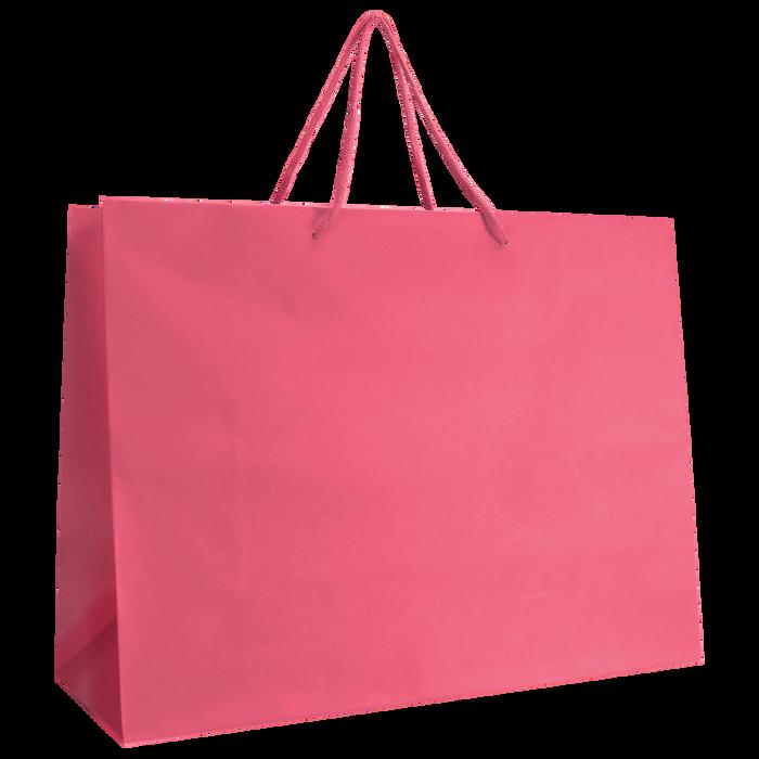 Pink Large Matte Shopper Bag