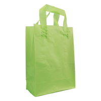 Lime Medium Frosted Plastic Shopper Thumb