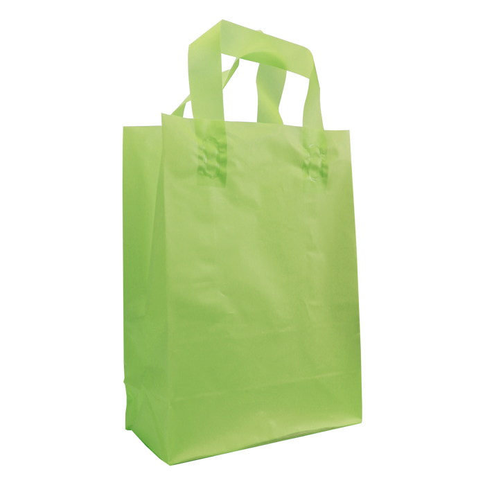 Lime Medium Frosted Plastic Shopper