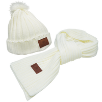 Cozy Knit Hat & Scarf Set Thumb