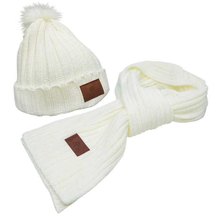 Cozy Knit Hat & Scarf Set