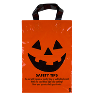 Orange Jack-O-Lantern Safety Tips Bag Thumb