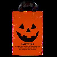 Orange Jack-O-Lantern Safety Tips Bag Thumb