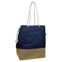 Navy Islay Canvas Beach Bag Thumb