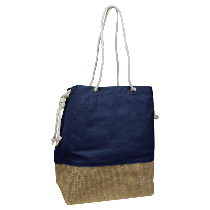 Navy Islay Canvas Beach Bag