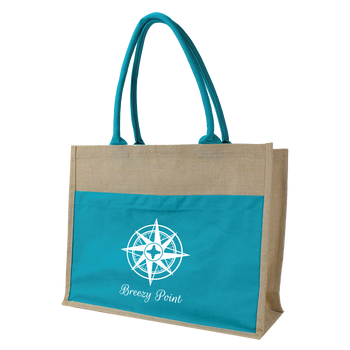 Organic Jute Canvas Beach Tote