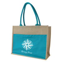 Organic Jute Canvas Beach Tote Thumb