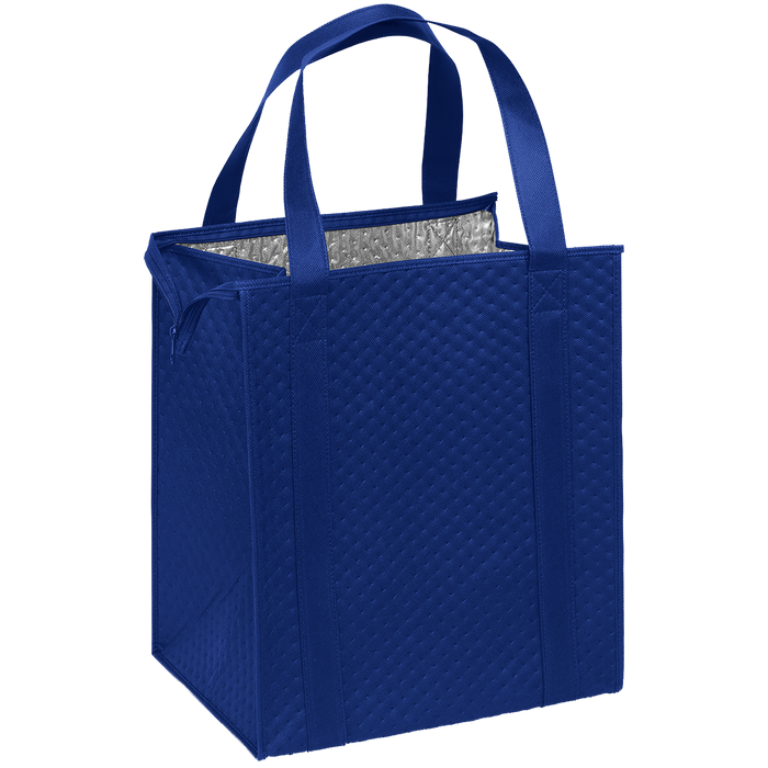Royal Blue Large Insulated Cooler Tote