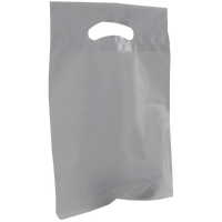 Gray Small Recyclable Die Cut Plastic Bag Thumb