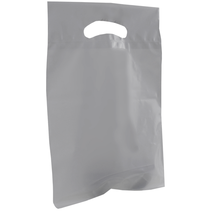 Gray Small Recyclable Die Cut Plastic Bag