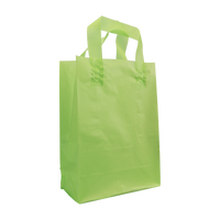 Lime Small Frosted Plastic Shopper Thumb