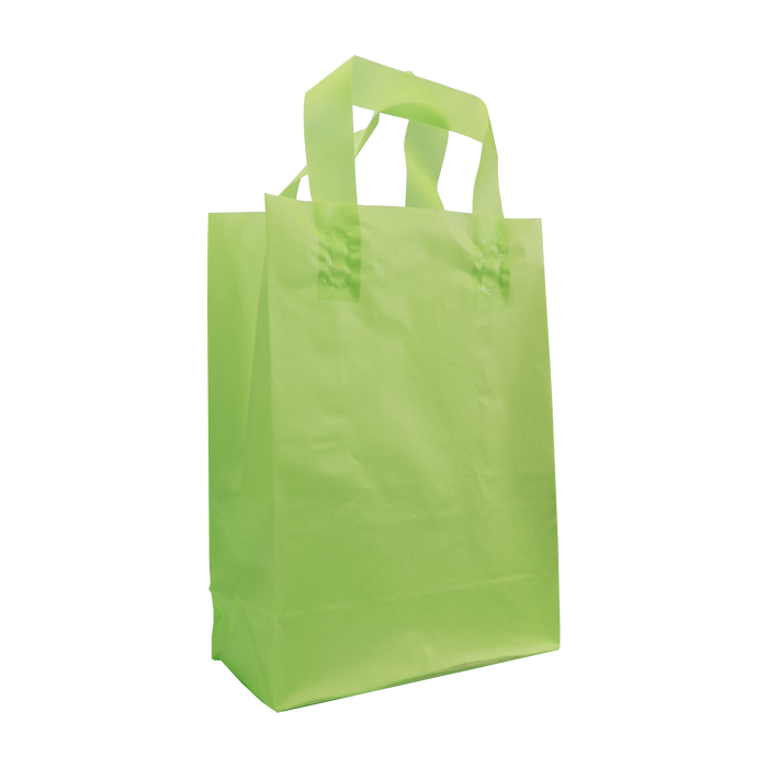 Lime Small Frosted Plastic Shopper