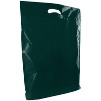 Hunter Green Large Die Cut Plastic Bag Thumb