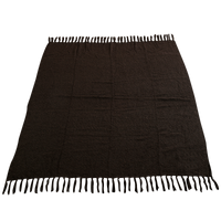 Chocolate (20471) Fringed Woven Throw Blanket Thumb