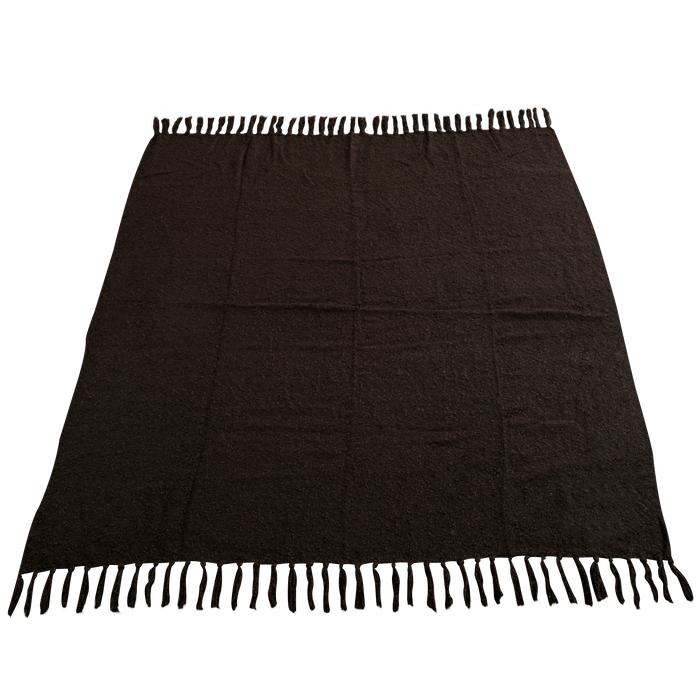 Chocolate (20471) Fringed Woven Throw Blanket