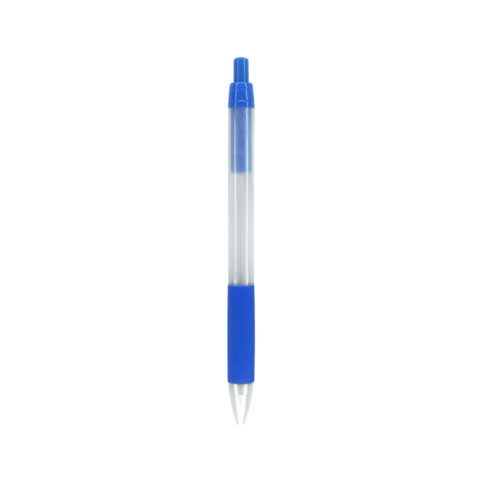 Blue with Black Ink Frosted Barrel Pen
